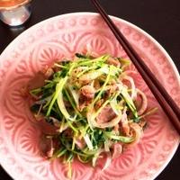 日本酒に合う☆砂肝と春野菜の炒めもの