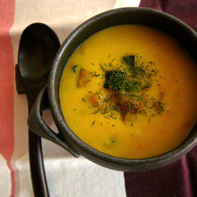 *かぼちゃのほっこりスープ …偶然の産物です