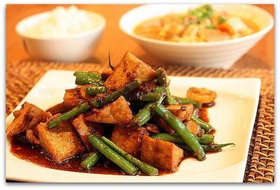 厚揚げの中華風炒め&コチュジャンでちょいピリ辛豚汁