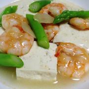 海老と豆腐の旨コク煮<鶏がら生姜風味>