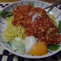 鶏ミンチでスパゲッティ
