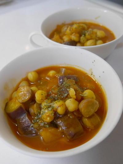 ナガノトマト・サルサソースで作るひよこ豆の煮物