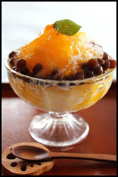 タピオカマンゴーココナッツ氷とノーマルかき氷編