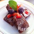 卵&バター不使用‼濃厚♡お豆腐ブラウニー / 住宅メーカーへ by Mariさん