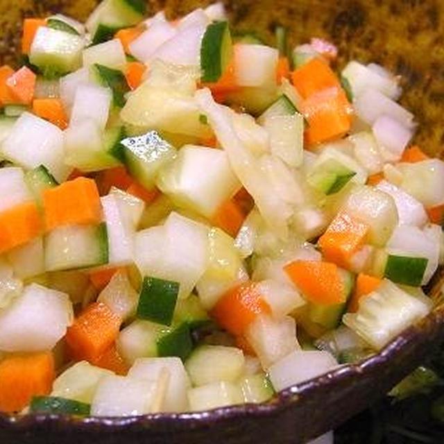 塩レシピ62 夏のさっぱりサラダ