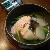 初夏の香るスープ・蕪とアトランティックサーモン