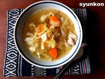 【簡単!!キャベツレシピ】とろとろキャベツのごま塩スープと、ゆでキャベツとささみの塩昆布和え