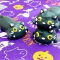 ハロウィンだから~。にゃおにゃお黒猫メレンゲクッキー☆ by すたーびんぐさん