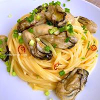 牡蠣だし醤油とぷりぷりの牡蠣で風味2倍!ぜいたくスパゲッティ