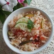 すだちとトマトの炊き込みご飯 by ママちゃんさん