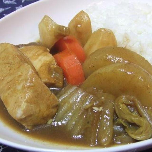 ぶり&冬野菜のスパイシー和カレー