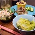 ストウブで。無水白菜と豚肉の重ね煮とか。