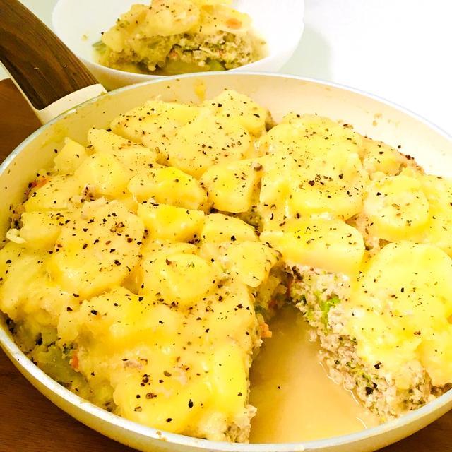 緑黄色野菜と豆腐入りの♪ヘルシーなポテトミートチーズ♡スパイスアンバサダー♪