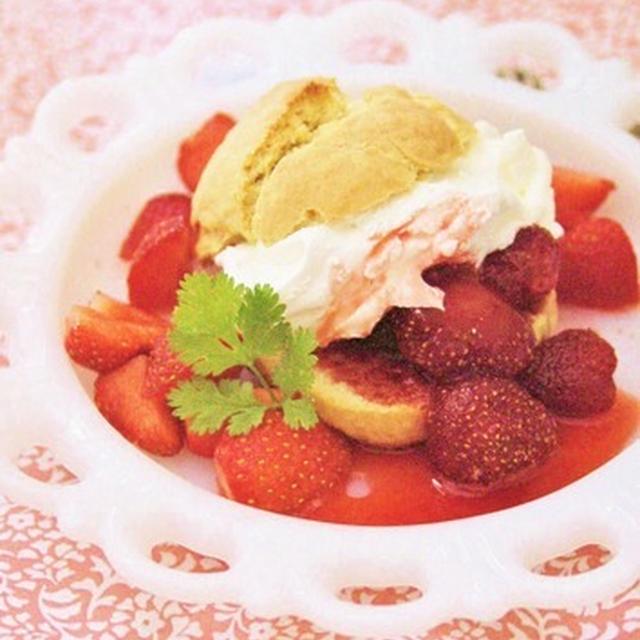 American Strawberry Shortcake(ストロベリー・ショート・ケーキ)。