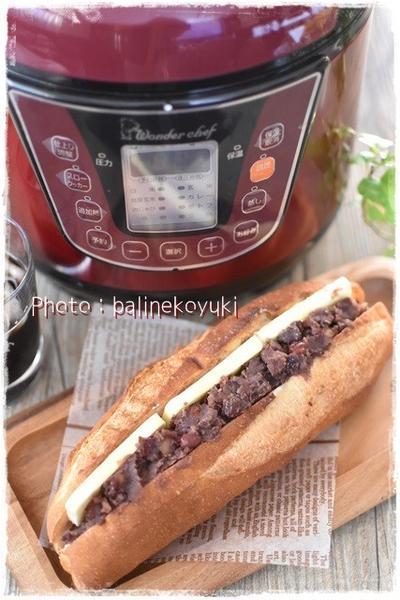 電気圧力鍋で作る|カロリー控えめつぶあんレシピ|あんこバターサンド