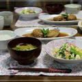 新たまねぎのミンチはさみ煮&小松菜チャンプルー