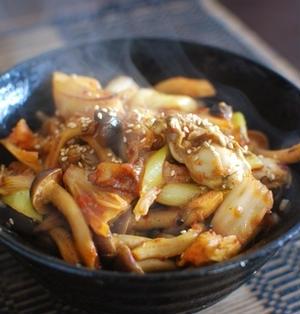 ピリ辛 牡蠣の生姜味噌丼