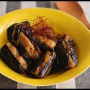 簡単レンジで6分!鶏むね肉でナスの挟み煮・甘辛ニンニク風味