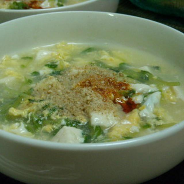 木綿豆腐と豆苗のとろ~んと中華煮 と 油淋鶏