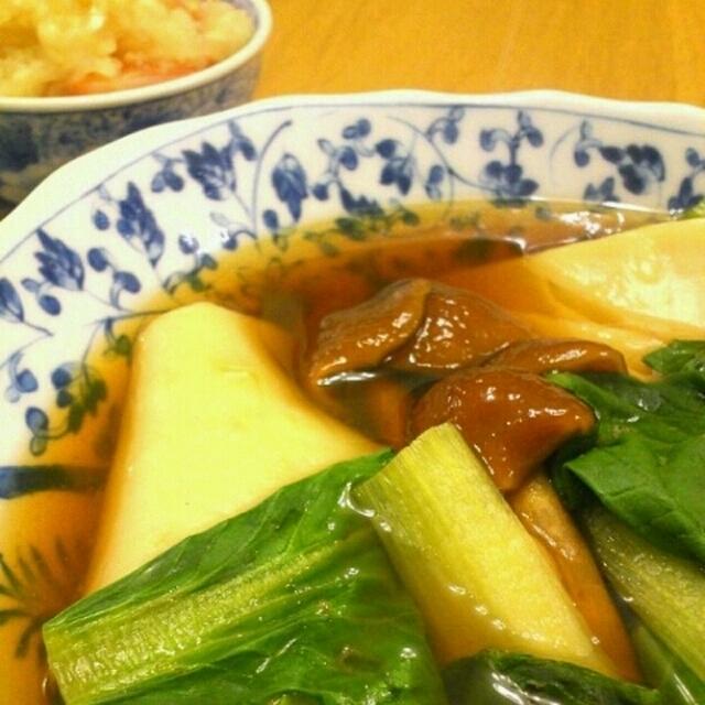 「はっと」なめこ小松菜スープ煮