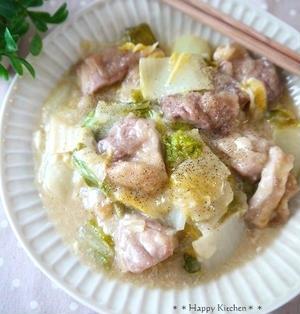 鶏肉と白菜のとろとろチーズクリーム蒸し
