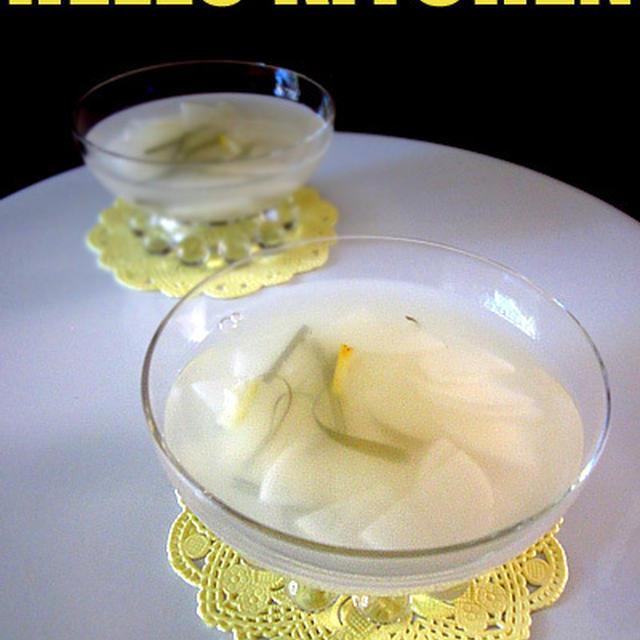 塩麹トンチミ(辛くない大根の水キムチ)