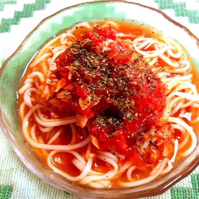 トマトそうめん de 冷製カッペリーニ
