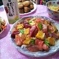 モニター★令和大晦日❗️パーティーメニュー❗️より「創味 だしのきいたまろやかなお酢」で、☆漬け丼ちらし寿司☆