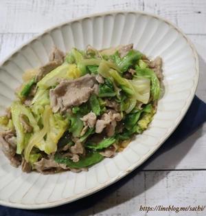 豚肉と春キャベツのガリバタ醤油炒め♡【#簡単レシピ#春キャベツ】