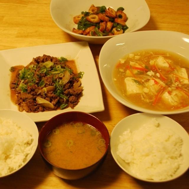 昨夜は豆腐の野菜あんかけなど~と友達とのランチ!