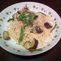 なすの和風パスタ ~ eggplant Japanese style pasta