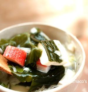 【モニタ】豆腐とカニカマのネギ塩スープ