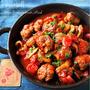 ♡フライパンde超簡単♡ミートボールのトマト煮♡【#ひき肉#時短#節約#作り置き】