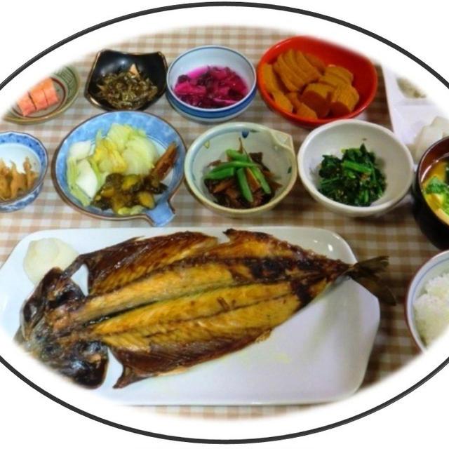 今朝は、鯖開き定食