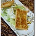 葉たまねぎと油揚げのサラダ