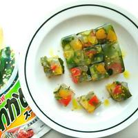 【モニターRecipe】夏野菜とわかめのスープテリーヌ