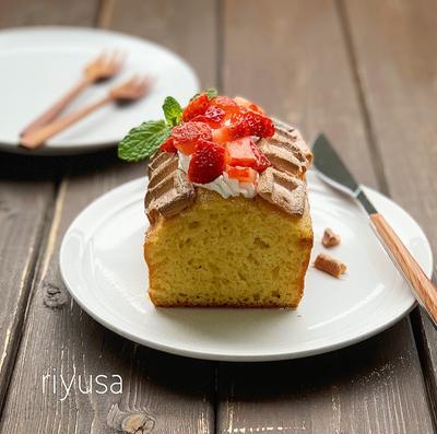 【板チョコ使って簡単】苺チョコのふわっとケーキ