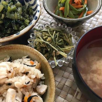 ダイエット:野菜中心ランチの図