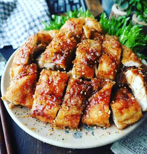 めちゃめちゃおすすめです❤️おかわりがとまらない♪鶏むね肉でうまダレ揚げ鶏❤️
