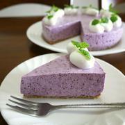 【掲載】くらしのアンテナ(レシピブログ)★3STEPブルーベリーヨーグルトケーキ♪