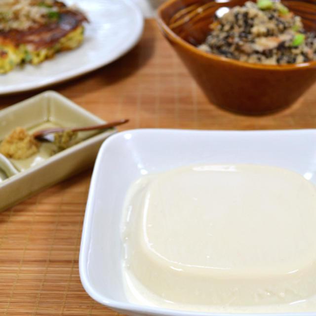 ゼラチン活用術⑥~もっちりゼラチン塩豆腐。しっとり卯の花。と、ロケ&福島連載更新。
