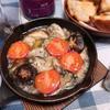 スキレットで簡単牡蠣のペッパーアヒージョ