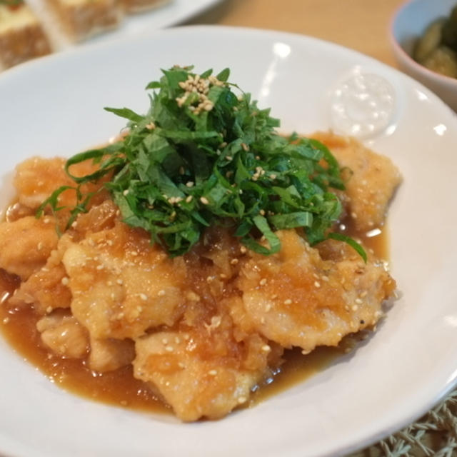 人気検索1位♡ 『鶏むね肉のジンジャーオニオンソース』