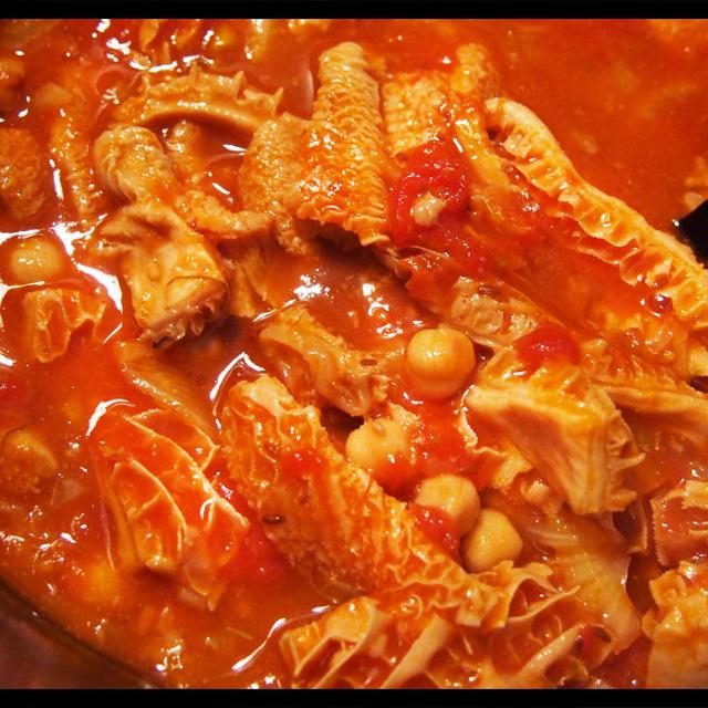 「牛ハチノスとスジ肉、ひよこ豆の煮込み」