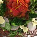 大人女子会はトマトマリネのサラダで少しだけクリスマス風~♪♪
