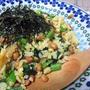 小松菜と納豆のチャーハン