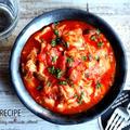 ♡チーズとろ〜り♡チキンのトマト煮♡【#簡単#鶏肉#フライパン#連載】