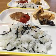 コドモごはん♪ひじきご飯・チキンソテー