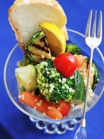 簡単持ち寄りレシピ♥温野菜のクスクスサラダ