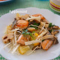 【モニター】秋鮭と三種きのこと蓮根のレモンマリネ by アップルミントさん